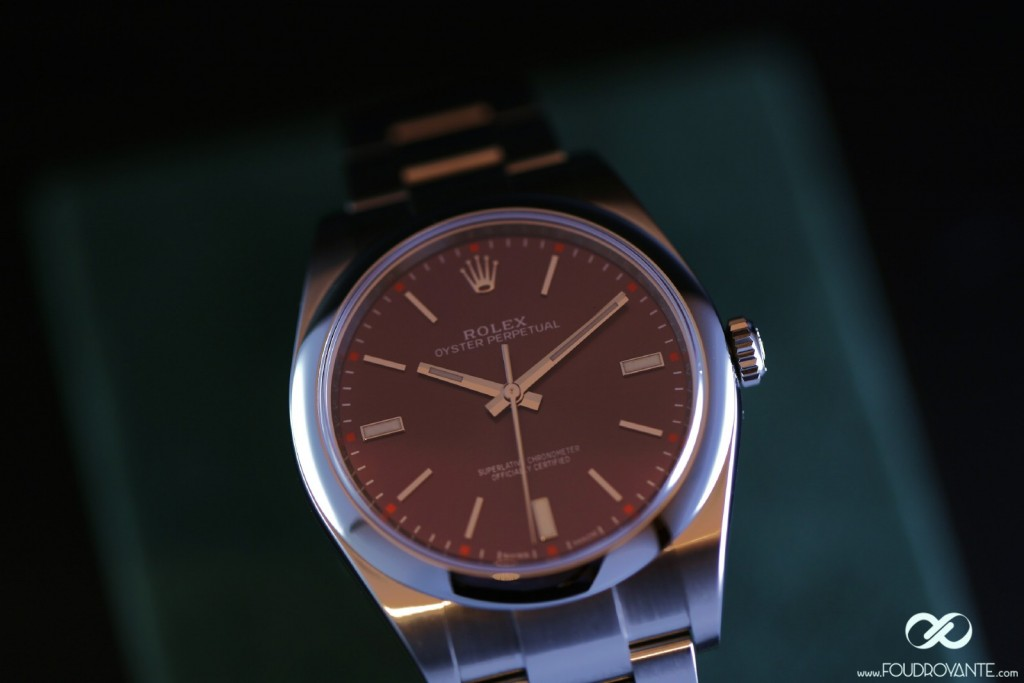 Rolex Oyster Perpetual 114300 Red grape