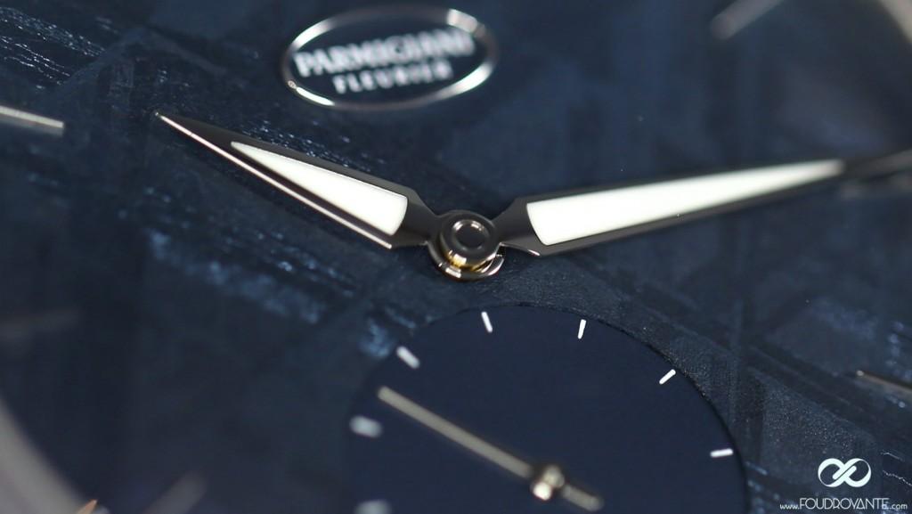 Parmigiani Tonda 1950 blue meteorite dial